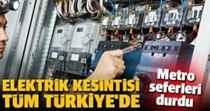 Şehirde Büyük Elektrik kesintisi