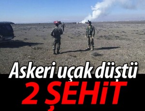 Askeri eğitim uçağı düştü: 2 şehit