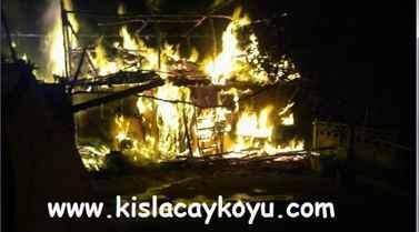 Kışlaçay Köyünde Yangın Söndürüldü.