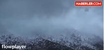 Geyve'nin yüksek kesimlerinde Nisan ayındaki kar yağışı görenleri şaşırttı.