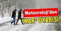 Sakarya için kar uyarısı