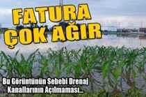 Kanallar açılmadı, tarım alanlarında zarar çok büyük…