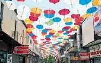 Uzunçarşı'ya dünyanın en renkli gökyüzü önerildi: Şemsiyeli Sokak