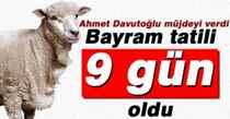 Başbakan Ahmet Davutoğlu müjdeyi verdi!