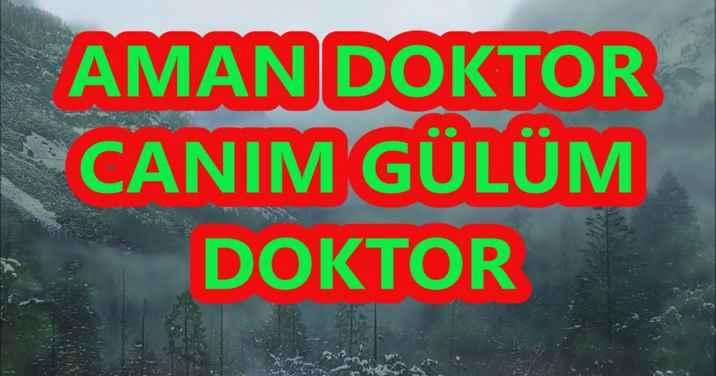 Aman Doktor bir çare!Seyit Alp Sezer Köşe Yazısı