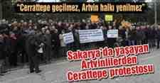 Sakarya'da yaşayan Artvinlilerden Cerattepe Protestosu