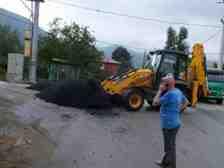 Boğazköy de Asfalt Ve Yama Çalışması Yapıldı.