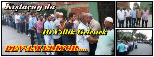 Kışlaçay'da 40 Yıllık Bayram Geleneği…..