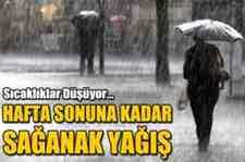 Meteorolojinin Uyardığı Yağış Geldi!!