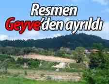 Komşu Kapımız Boğazköy resmen Geyve'den ayrıldı