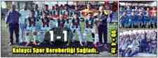 Arifiye Kalaycı Spor 1-1 Kışlaçay Spor Maç Sonucu