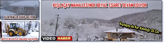 Kışlaçay Mahallesin'deki Kar Hayatı Olumsuz Etkiledi!!!