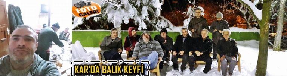 Kışlaçay Mahallesinde Kar'da Gece Balık Keyfi Yaptılar!
