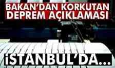 Bakan'dan İstanbul için korkutan deprem açıklaması…