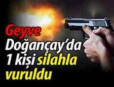 Komşu'da Gergin Gece 1 Kişi Silahla Yaralındı!!