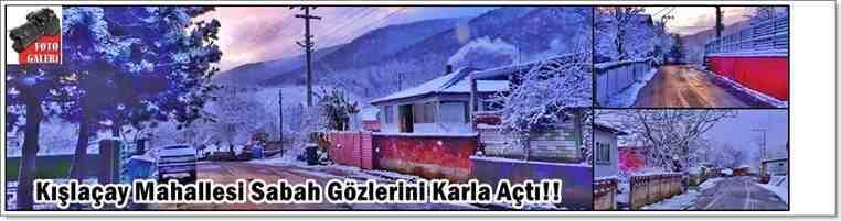 Kışlaçay Mahallesi Sabah Gözlerini Kar İle Açtı!!!İşte Beyaz Gelinlik İle Manzaralar!
