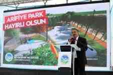 Özelhaber :İlçemiz  Arifiye Park'ın temeli atıldı!!