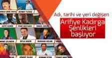 Arifiye Kadırga Şenlikleri Yöresel Ürün ve Hediyelik Eşya Fuarı Başlıyor!!