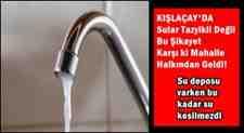 Sular Tazyikli Değil Bu Şikayet Karşı ki Mahalle Halkından Geldi!