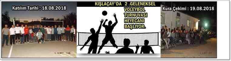 Kışlaçay Köyü Gençliği Geleneksel 2'nci Voleybol Turnuvası Heyecanı Başlıyor!