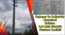 Kışlaçay Ve Boğazköy Mahallesi Halkına 2.5 Aylık Elektrik Faturası Kesildi!
