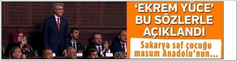 Erdoğan Açıkladı; Büyükşehir Adayı Ekrem Yüce!