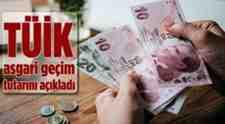 TUİK Asgari Geçim Tutarını Açıkladı!