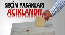 Seçim Günü Uygulanacak Yasaklar Resmi Gazete'de yayımlandı