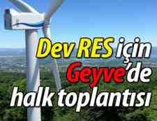 Geyve'de Rüzgar Enerjisi Projesi İçin Halk Toplantısı Yapılacak!