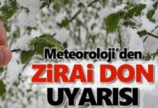Dikkat : Meteoroloji'den Sakarya İçin  Zirai Don Uyarısı!