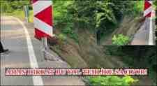 Kışlaçay Mahallesin'de Kayan Toprak Mezarlık Yolun'da Tehlike Saçıyor!