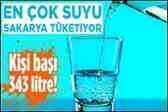 Dikkat : Sakarya'da Kişi Başı Su Kullanımı 343 Litre!