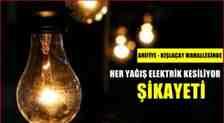 Kışlaçay Mahallesin'de Her Yağmurda Elektriklerimiz Kesiliyor Şikayeti!