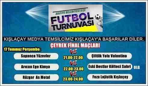 Arifiye İlçe Turnuvasın'da Çeyrek Final Heyecanı Başlıyor!