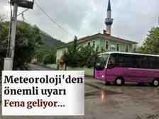 Sakarya'da Sel Ve Su Baskınına Dikkat!Fena Geliyor!