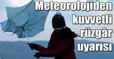 Meteoroloji'den Sakarya'da Kuvvetli Rüzgar Beklentisi!