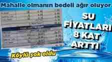 Kumbaşı-Semerciler- Mollaköy'de Su Faturalarına Gelen Zamdan Nasiplendi!