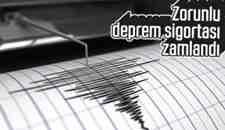 Zorunlu Deprem Sigortası'da Zamdan Nasibini Aldı!
