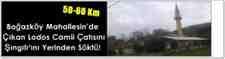Boğazköy Mahallesin'de Çıkan Lodos Camii Çatısını Şıngılı'ını Yerinden Söktü!