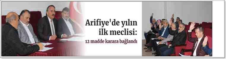 Arifiye'de yılın ilk meclisi: 12 madde karara bağlandı!