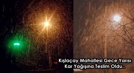 Kışlaçay Mahallesi Gece Yarısı Kar'a Teslim Oldu!