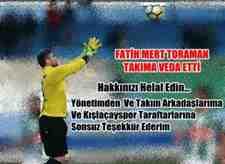 Kışlaçayspor'da Fatih Mert Toraman Takıma Veda Etti!