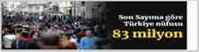 Türkiye nüfusu 83 milyon 154 bin 997'ye ulaştı
