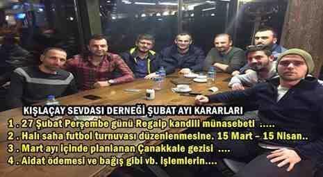 Kışlaçay Sevdası Derneği Şubat Ayı Yönetim Kurulu Kararları!