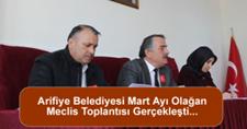 Arifiye Belediyesi Mart Ayı Olağan Meclis Toplantısı Gerçekleşti…