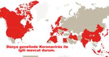 Dünya Genelinde Koronavirüs İle İlgili Mevcut Durum!