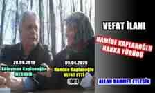 Süleyman Kaplanoğlu'nun Eşi Hamide Kaplanoğlu Vefat Etti!