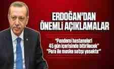 Erdoğan Açıkladı, Parayla Maske Satışı Yasaklandı!
