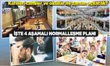 İşte Türkiye'nin 4 aşamalı normalleşme planı..