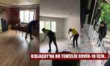 Kışlaçay Köyü Gençliğin'den Korona Tedbiri Oraları Dezenfekte Ettiler.